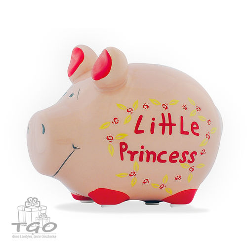 "Spardose Schwein KCG  ""Little Princess"" 12,5x 9cm"